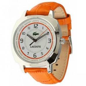 Uhrenarmband Lacoste 2000600 / LC-47-3-14-2233 Leder Orange 18mm