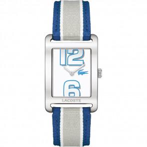 Uhrenarmband Lacoste 2000693 / LC-51-3-14-2261 Leder Blau 20mm
