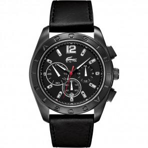 Uhrenarmband Lacoste 2010609 / LC-53-1-34-2302 Leder Schwarz 24mm