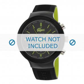 Lacoste Uhrenarmband 2010650 / LC-61-1-29-2347 Kautschuk Schwarz 16mm