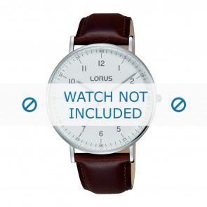 Lorus Uhrenarmband VJ21 X071 / RH895BX9 Leder Braun 20mm + braunen nähte