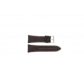 Lorus Uhrenarmband VD57-X023 Leder Braun 28mm + weisßen Nähten