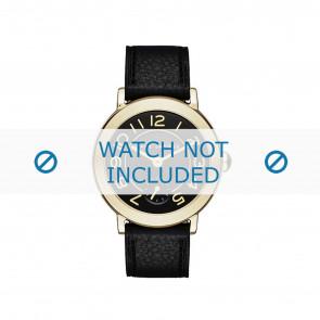 Marc by Marc Jacobs Uhrenarmband MJ1471 Leder Schwarz 14mm + schwarzen nähte