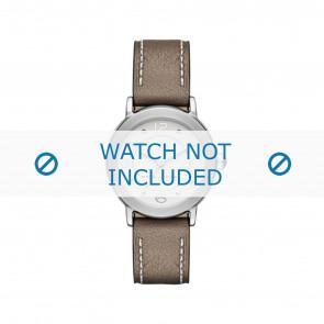 Marc by Marc Jacobs Uhrenarmband MJ1472 Leder Taupe 16mm + weiße nähte