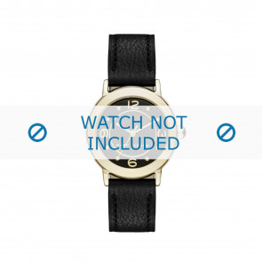 Marc by Marc Jacobs Uhrenarmband MJ1475 Leder Schwarz 14mm + schwarzen nähte