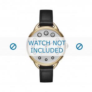 Marc by Marc Jacobs Uhrenarmband MJ1479 Leder Schwarz 12mm + schwarzen nähte