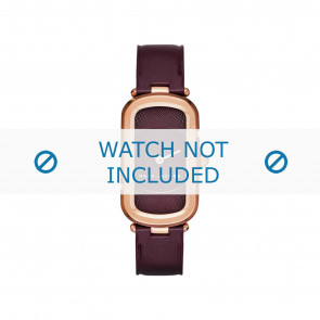 Marc by Marc Jacobs Uhrenarmband MJ1483 Leder Bordeaux 14mm + standardnähte