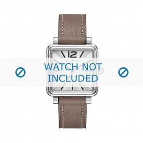 Marc by Marc Jacobs Uhrenarmband MJ1518 Leder Taupe 16mm + weiße nähte