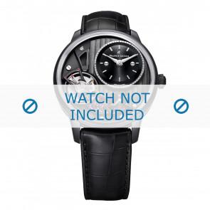 Maurice Lacroix Uhrenarmband MP6118-PVB01-330 Leder Schwarz + schwarzen nähte
