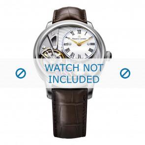 Maurice Lacroix Uhrenarmband MP6118-SS001-112-2 Krokodilhaut Braun + braunen nähte