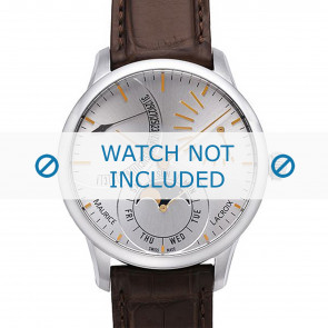 Maurice Lacroix Uhrenarmband MP6528-SS001-130 Krokodilhaut Braun + braunen nähte