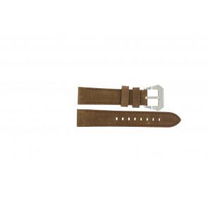 Max Uhrenarmband BR / 20mm  Leder Braun 20mm + braunen nähte