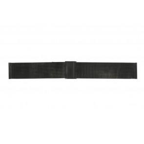 Uhrenarmband Universal 22.1.5-ST-ZW Milanese Schwarz 22mm