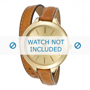 Michael Kors Uhrenarmband MK2256 Leder Cognac 12mm + braunen nähte