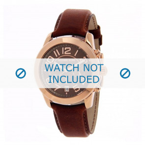 Michael Kors Uhrenarmband MK2265 Leder Hellbraun 22mm + braunen nähte