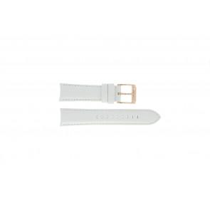 Uhrenarmband Michael Kors MK2289 Leder Weiss 22mm