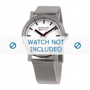 Mondaine Uhrenarmband BM20126 / BM20038 / 30300 / 30314 / Classic 36 / Evo 35  Metall Silber 18mm