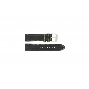 Festina Uhrenarmband F16101/C Leder Schwarz 22mm + weisßen Nähten