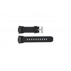 Casio Uhrenarmband GLX-150-1W Gummi Schwarz 16mm