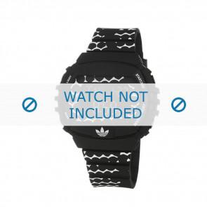 Adidas Uhrenarmband ADH6118 Gummi Schwarz 22mm