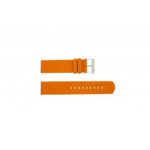 a.b.art Uhrenarmband OA101 / D / DL /  ES Leder Orange 21mm
