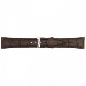 Poletto Leder Uhrenarmband dunkelbraun 18 mm PVK-497