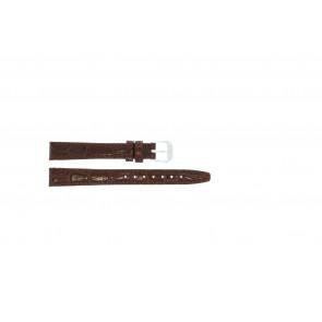 Echtleder Lackleder kroko braun 14mm 082