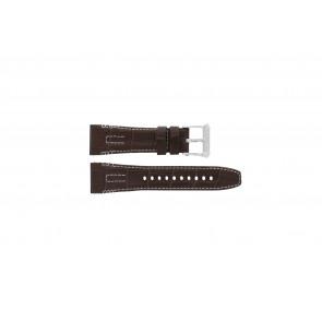 Seiko Uhrenarmband 5D44-0AE0 Leder Braun 26mm + weisßen Nähten
