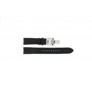 Seiko Uhrenarmband 7D46-0AB0 Leder Schwarz 20mm