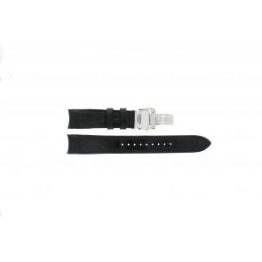 Seiko Uhrenarmband 7D48-0AA0 / 7T62-0FF0 / 4KK6JZ / 34H6JZ / SNP005P1 Leder Schwarz 20mm + schwarzen nähte