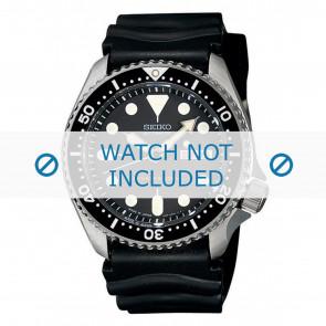 Uhrenarmband Seiko 7S26-0020 / SKX007K1 / 4FY8JZ / 4D41JZ Kautschuk Schwarz 22mm