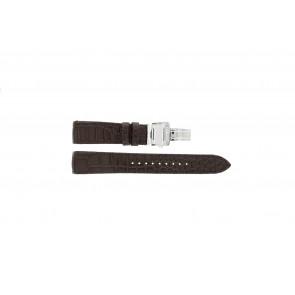 Uhrenarmband Seiko 7T04-0AA0 / 4A071JL Leder Braun 21mm