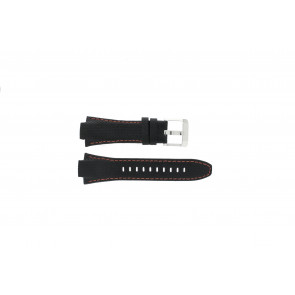 Uhrenarmband Seiko 7T62-0ED0 / H023 00C0 / SNJ007P Leder Schwarz 15mm