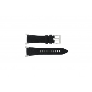 Seiko Uhrenarmband 7T62-0HH0 Leder Schwarz 33mm