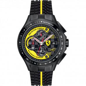 Uhrenarmband Ferrari SF.03.1.34.0054-Y Silikon Schwarz