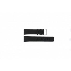 Skagen Uhrenarmband 355XLSLB Leder Schwarz 23mm