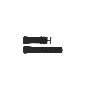 Skagen Uhrenarmband 856XLBLB / 856XLBLN Kroko Leder Schwarz 24mm