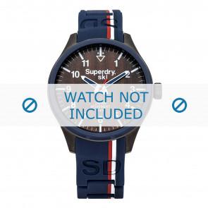 Superdry Uhrenarmband SYG185U Silikon Blau