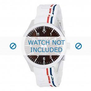 Superdry Uhrenarmband SYG185W Silikon Weiss