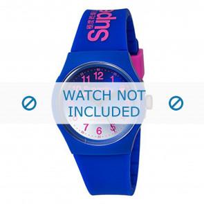 Superdry Uhrenarmband SYG198UU Kunststoff Blau