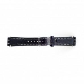 Uhrenarmband kroko blau für Swatch 19mm ES- 2.05