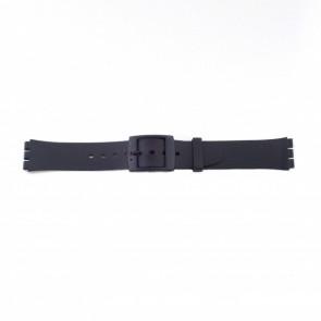 Swatch (Ersatz)-Uhrenarmband PVK P51 Gummi/Plastik Schwarz 17mm