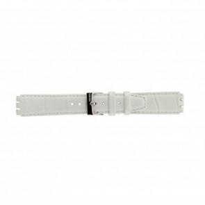 Uhrenarmband Swatch 21414.11 Leder Weiss 17mm