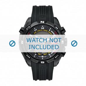 Uhrenarmband Swiss Military Hanowa 06-4174.13.007 / LOC-7 Kautschuk Schwarz 24mm