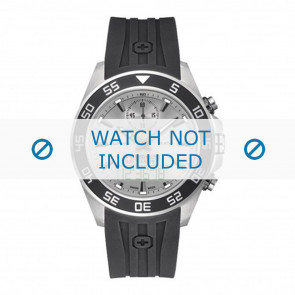 Swiss Military Hanowa Uhrenarmband 06-4222.04.009 Kunststoff Schwarz 24mm