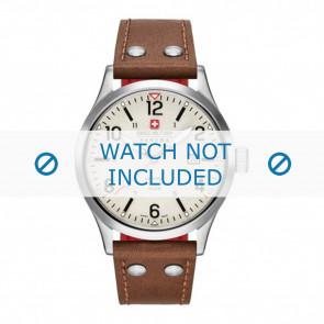 Swiss Military Hanowa Uhrenarmband 06-4280.04.002.05 Leder Cognac 22mm + weiße nähte