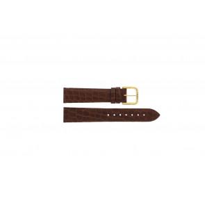 Tissot Uhrenarmband 970-122 T870 - T600013060 Kroko leder Braun 18mm