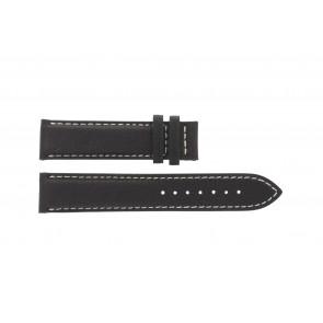 Tissot Uhrenarmband T014.410.16.037.00 - T610025416 Leder Dunkelbraun 19mm + weiße nähte