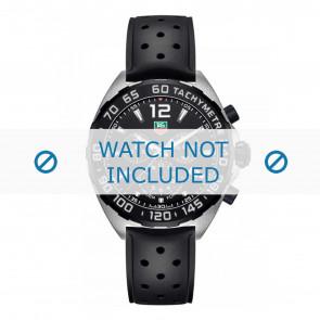 Uhrenarmband Tag Heuer 19,5mm BT0725 / FT8023 / FT8025 Kautschuk Schwarz