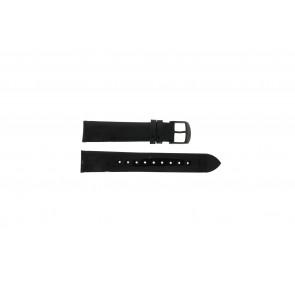 Timex Uhrenarmband T2N790 Leder Schwarz 18mm